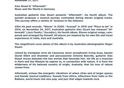 Press Book - Alex Stuart - Aftermath 8-1